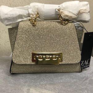 ZAC Zac Posen Glitter Leather Crossbody bag